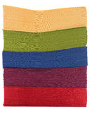 Pile of colorful napkins Royalty Free Stock Photo