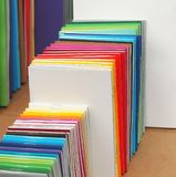 Pile of colorful notepads. Royalty Free Stock Image