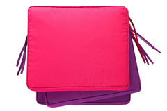 Pile of colorful outdoor cushion, waterproof pillow pad in pink Royalty Free Stock Photos