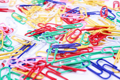 Pile of colorful paper clips Royalty Free Stock Image