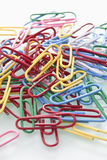 Pile of colorful paper clips, close up Stock Photography