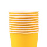 Pile of colorful paper coffee cup. Close up. Stock Photography