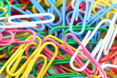 Pile of colorful paperclip. Royalty Free Stock Images