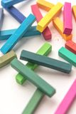 Pile of colorful pastel crayon chalks Stock Image