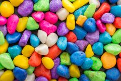 Pile of colorful pebbles as a stone background Royalty Free Stock Photo