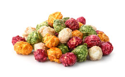 Pile of colorful popcorn Stock Photos