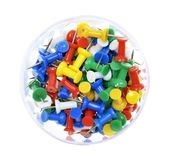 Pile of colorful  push pins Royalty Free Stock Photo