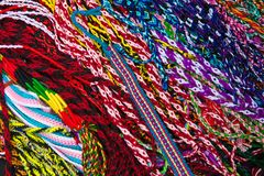 A pile of colorful ribbons Royalty Free Stock Image