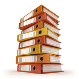 A pile of colorful ring binders Stock Image
