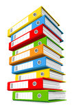 Pile of colorful ring binders Royalty Free Stock Photo