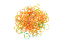 Pile of colorful rubber bands Stock Photo