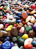 Pile of Colorful Smooth Rocks Stock Image