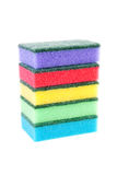 Pile of colorful sponge scourer Stock Photo