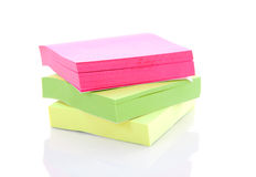 Pile of colorful sticky paper Royalty Free Stock Photography