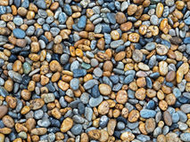 Pile of Colorful Stones on The Ground. Closeup Pile of Colorful Stones on The Ground Royalty Free Stock Images