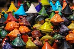 Pile of tagine pots. Marrakesh. Morocco Royalty Free Stock Photos