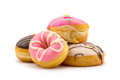 Pile of colorful tasty doughnuts Royalty Free Stock Photography
