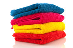 Pile colorful towels Stock Images