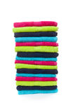 Pile of colorful towels Royalty Free Stock Photos