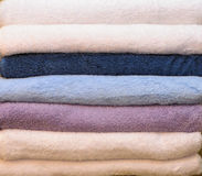 Pile of colorful towels Stock Photography