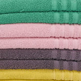 Pile of colorful towels Royalty Free Stock Photography