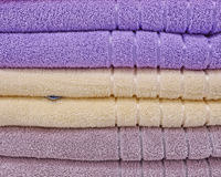 Pile of colorful towels Stock Images