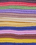 Pile of colorful towels Stock Photo