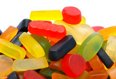 Pile of colorful wine gums. Against white background Stock Image