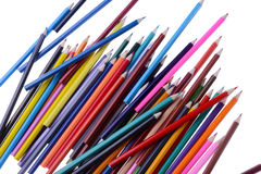 Pile of coloring pencils Stock Image