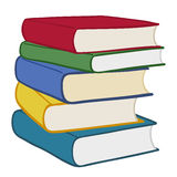 Pile of colourful hardcover books Royalty Free Stock Photos