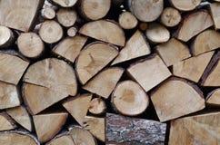 Pile commandée de bois de chauffage Images libres de droits