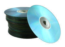 Pile of compact disks Stock Images