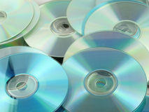 Pile of compact disks Royalty Free Stock Images
