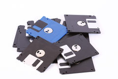 Pile of computer diskette royalty free stock images