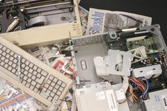 Pile of Computer Parts Stock Photos