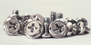Pile of computer screw Royalty Free Stock Images
