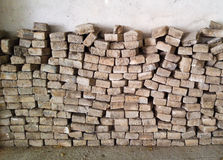 Pile of Concrete Bricks  Royalty Free Stock Photo