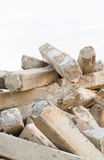 Pile concrete not used Royalty Free Stock Image
