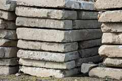 Pile of concrete slabs construction Royalty Free Stock Image