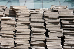 Pile of concrete square blocks Royalty Free Stock Photo