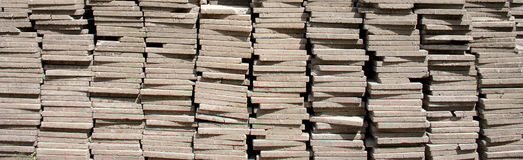 Pile of concrete square blocks Royalty Free Stock Photography