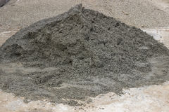 Pile of concrete for tile paving Stock Image