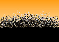 Pile consisting of musical notes Royalty Free Stock Photos