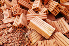Pile of construction bricks for pattern and background. It is pile of construction bricks for pattern and background royalty free stock photo