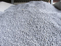 Pile of construction gravel Stock Image