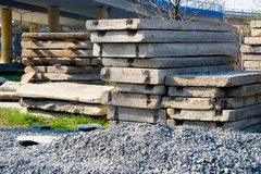Pile of construction material Royalty Free Stock Image