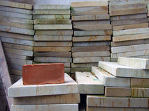 Pile of construction slabs Stock Photo