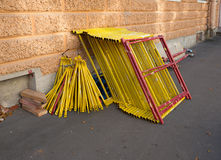Pile of constrution scaffold Royalty Free Stock Image