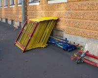 Pile of constrution scaffold Royalty Free Stock Photos