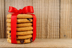 Pile of cookie with ribbon Stock Image
